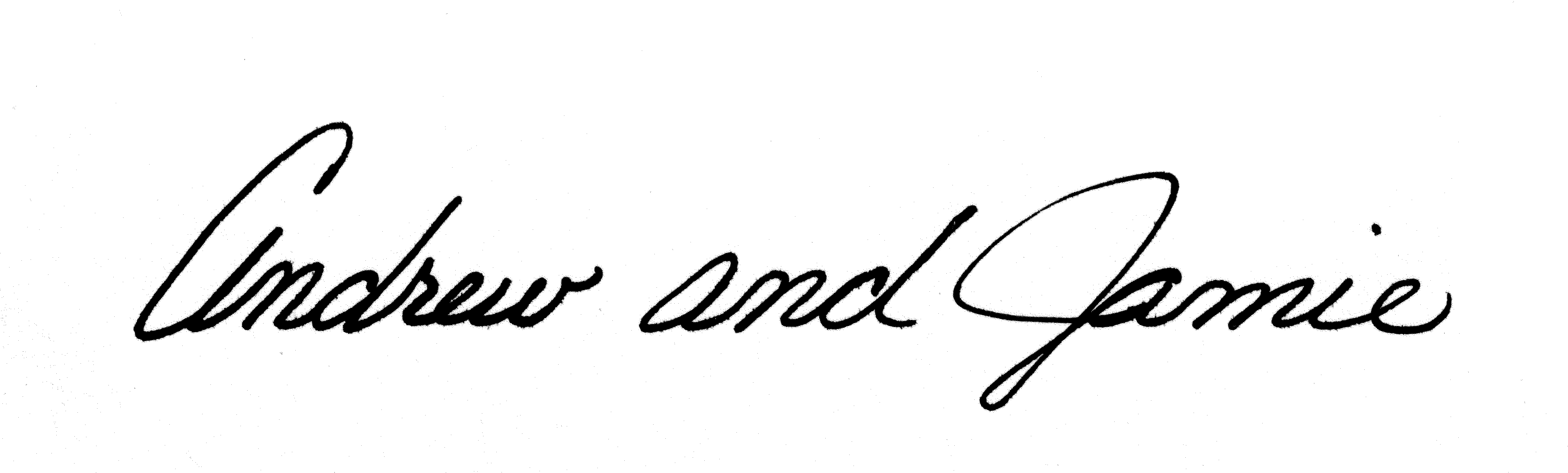 Andrew and Jamie Wommack's signature