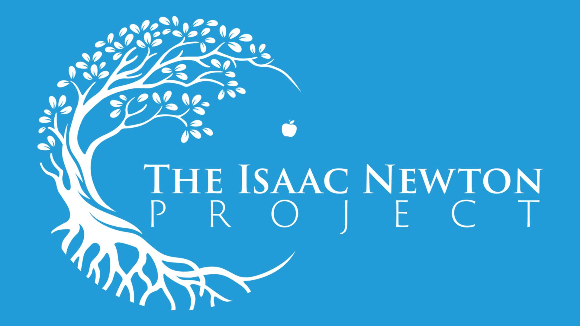 The Isaac Newton Project Logo: An Apple Falling off a Tree.